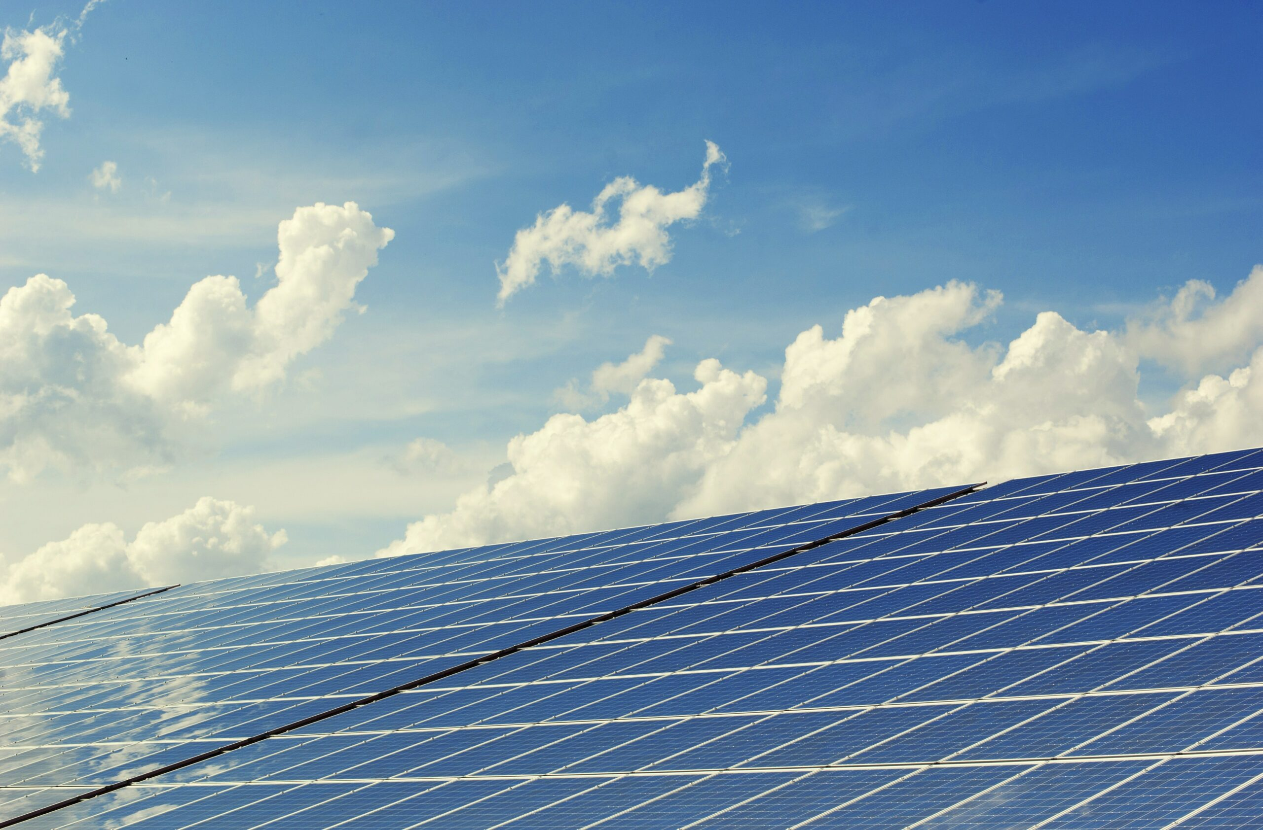 Solar panels are treated with e9 Advantage Glass Treatment to reduce maintenance and cleaning